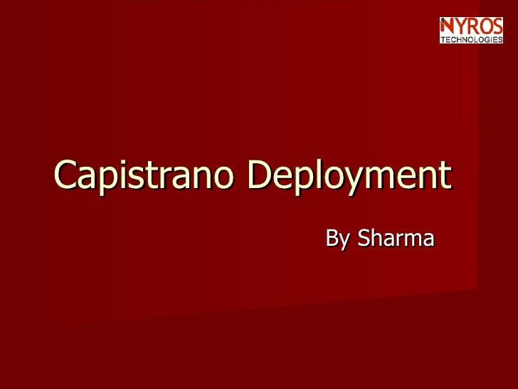 Capistrano Deployment  By Sharma