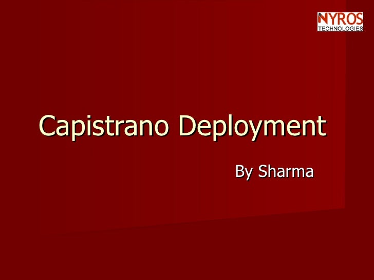Capistrano Deployment By Nyros Developer