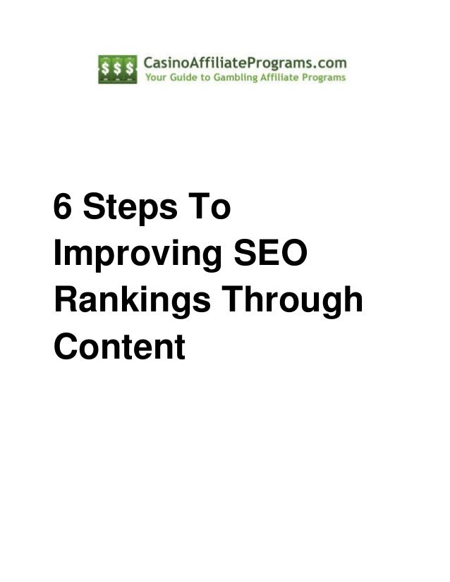 6 steps to improving seo rankings through content
