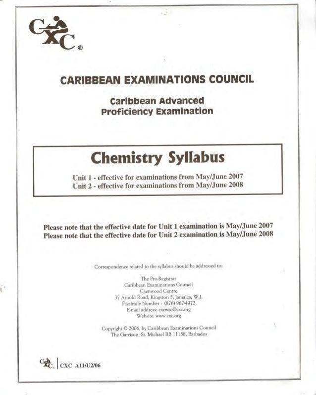 syllabus chm