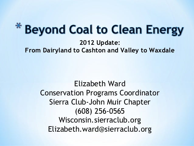 Beyond Coal to Clean Energy