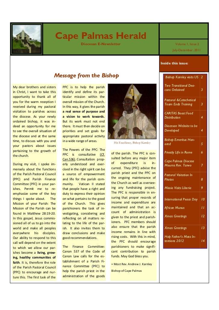 Cape Palmas E-Newsletter vol. 1 issue 2