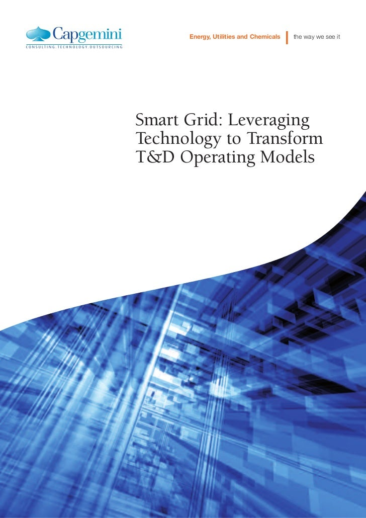 Smart Grid Operational Services Leveraging Technology To Transform Td Operating Models POV
