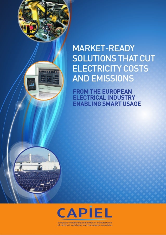 1 From the European Electrical Industry enabling Smart Usage Market-ready solutions that cut electricity costs and emissio...
