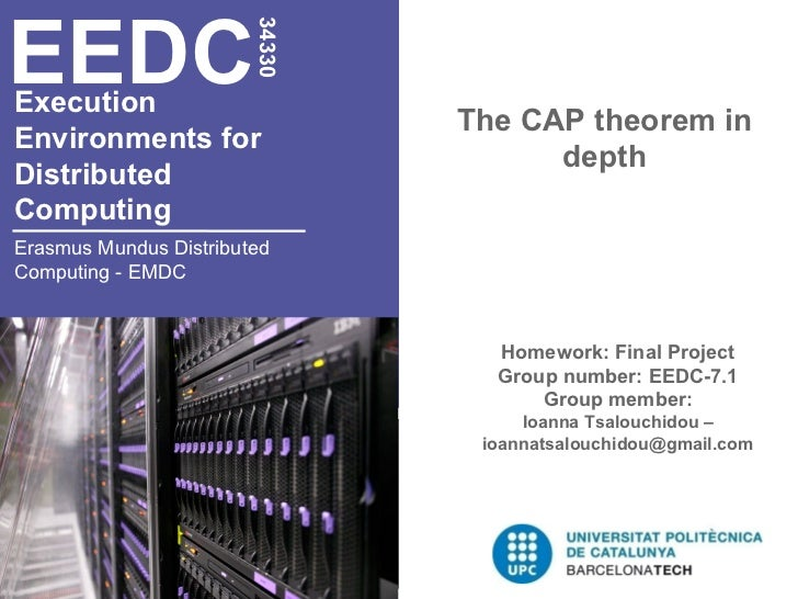 EEDC                        34330Execution                                The CAP theorem inEnvironments for              ...