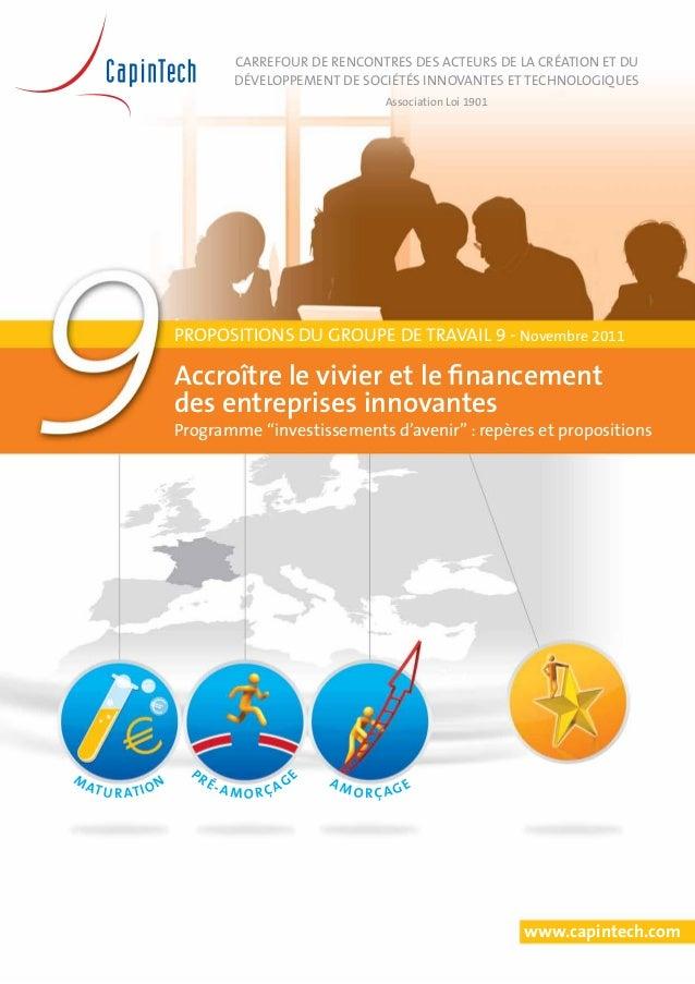 CapIntech - Investissements Avenir - Accroître les financements pour les entreprises innovantes