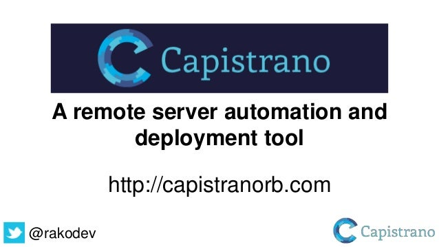Control your deployments with Capistrano