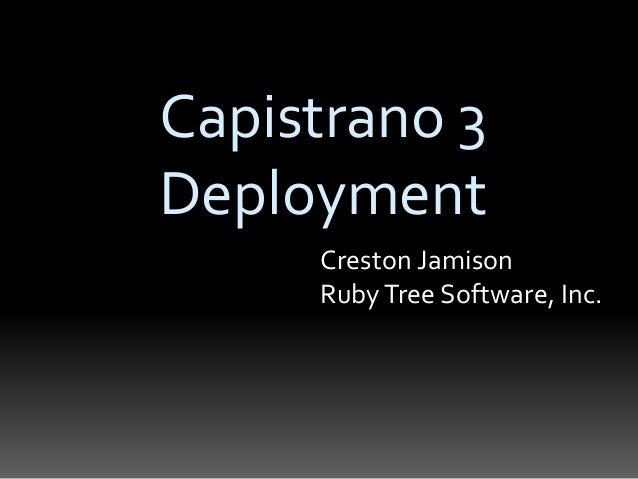 Capistrano 3 Deployment