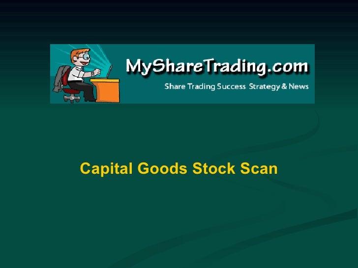 Australian Stockmarket Scan - Capital Goods