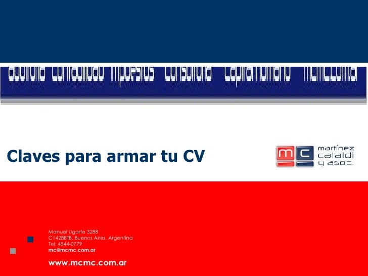 Claves para armar tu CV