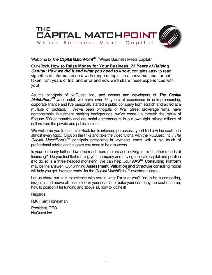 Capital matchpoint-ebook