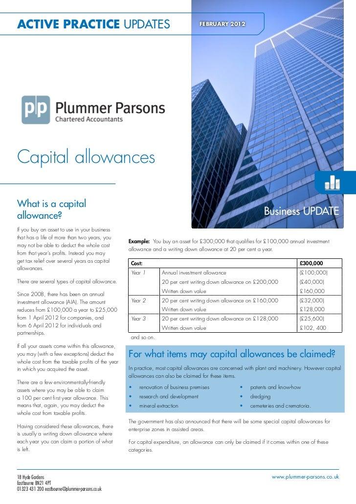 Active Business Series - Capital Allowances Feb 2012