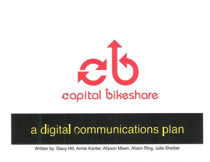 Capital Bikeshare: a Digital Communications Plan