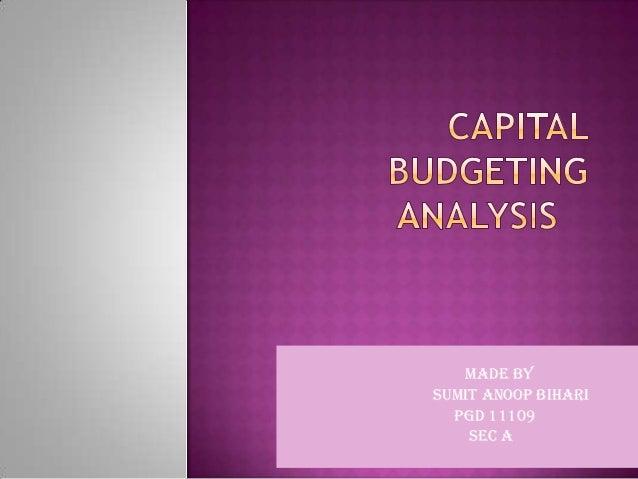Capital budget