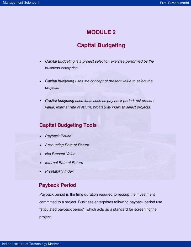 Management Science-II                                                                                 Prof. R.Madumathi   ...