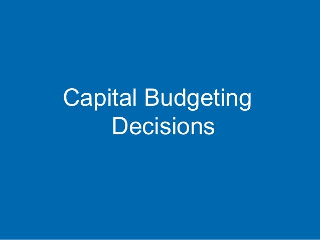 Лекц 7-8 Capital budgeting decisions