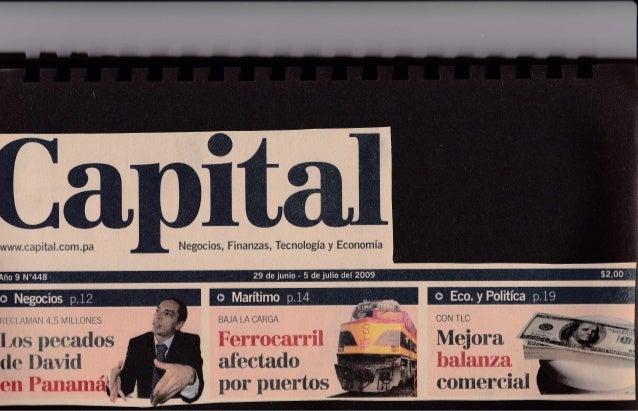 Capital Financiero Panama - El gas se pone atractivo por Jose Ricaurte Jaen - Julio 2009