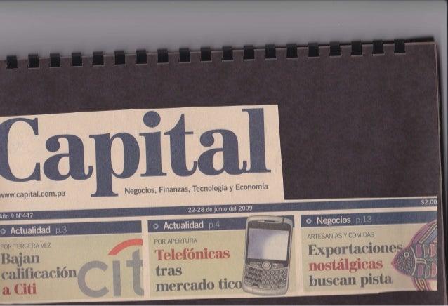 Capital Financiero Panama - El Patron de Cuatro Años por Jose Ricaurte Jaen - Junio 2009