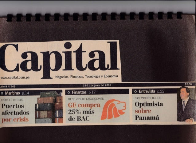 Capital Financiero Panama - Y, quien vendio mi Oro por Jose Ricaurte Jaen - Junio 2009