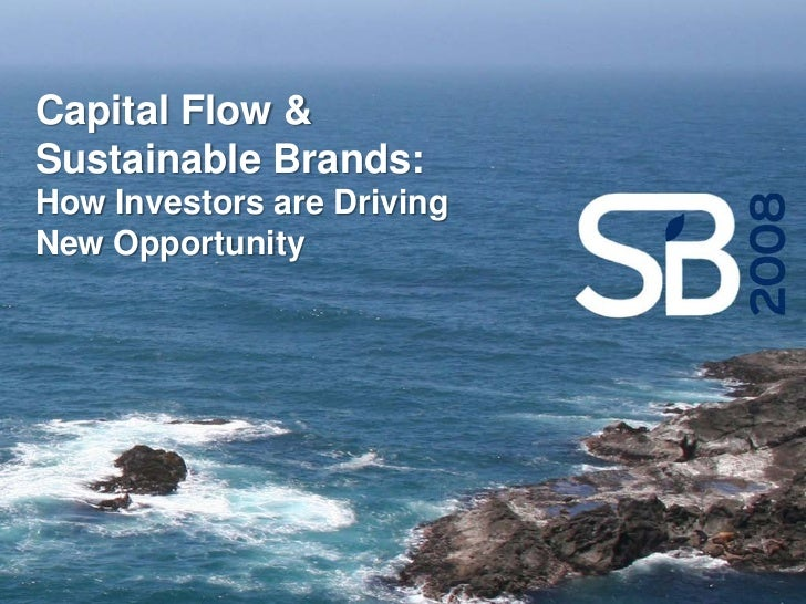 Capital Flows and Socially Responsible Investing in Sustainable Brands