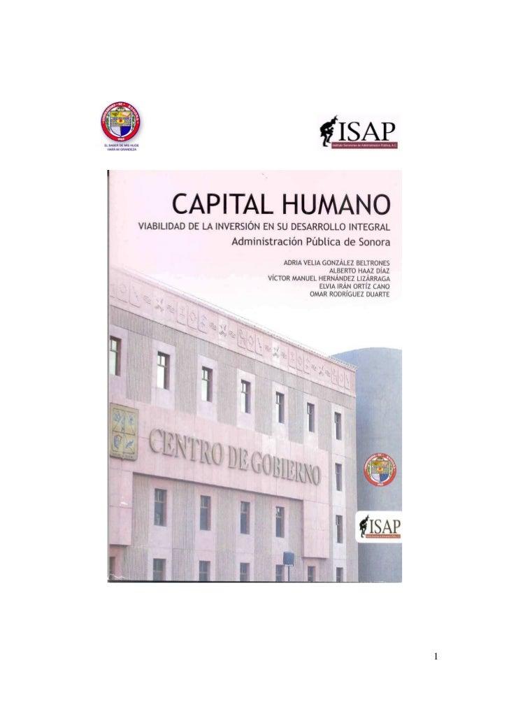 Capital humano en administración pública de Sonora ed2007