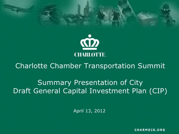 Charlotte Capital Improvement Program Proposal