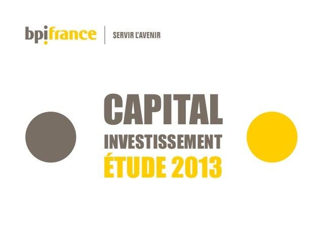 Etude 2013 Capital Investissement