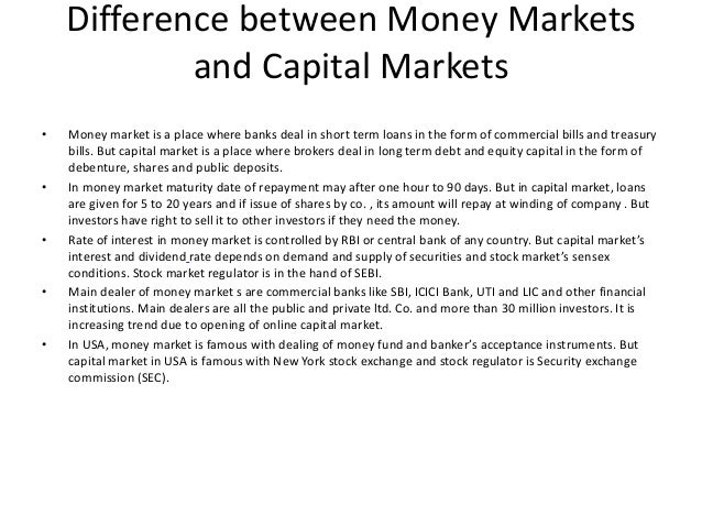 term paper on capital market of Call for papers open call for papers – 2018 financial technologies and algorithmic trading methods the aim of the journal of capital markets studies ( jcms) is to publish high-quality research in the areas of economics and finance with a specific focus on capital markets the journal proposes to arm its readership with.