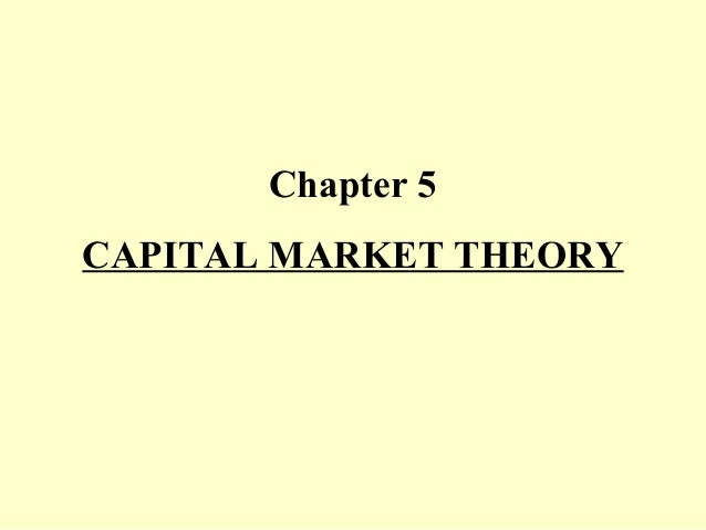 Chapter 5 CAPITAL MARKET THEORY
