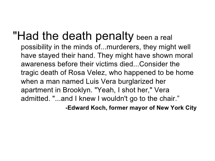 Argument essay on death penalty