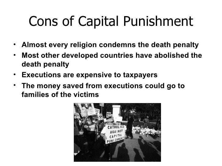 pros and cons of the death penalty essays A pros and cons essay encourages you to develop critical thinking skills by how to write a pros & cons essay while death penalty advocates argue for.