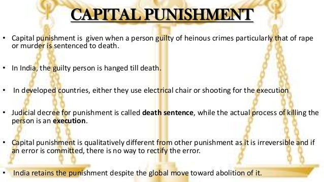 capital punishment for against