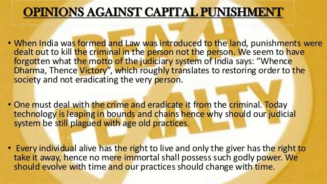 a persuasion for the capital punishment and why it should be abolished Death penalty should be revived unfortunately i know that committing to capital punishment also means committing to being able to.
