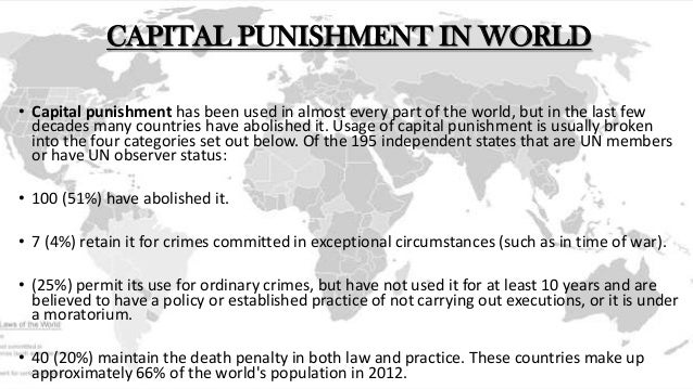 the real purpose of capital punishment Define capital punishment capital punishment synonyms, capital punishment pronunciation, capital punishment translation, english dictionary definition of capital punishment n 1 the penalty of death for the commission of a crime 2 the practice or legal sanction of allowing the imposition of.