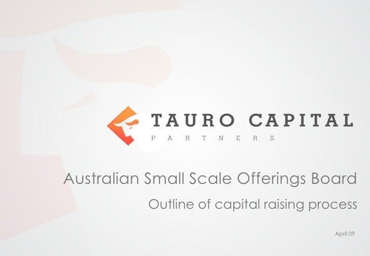 Capital Raising Via Assob
