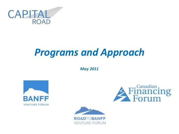 Programs and Approach<br />May 2011<br />