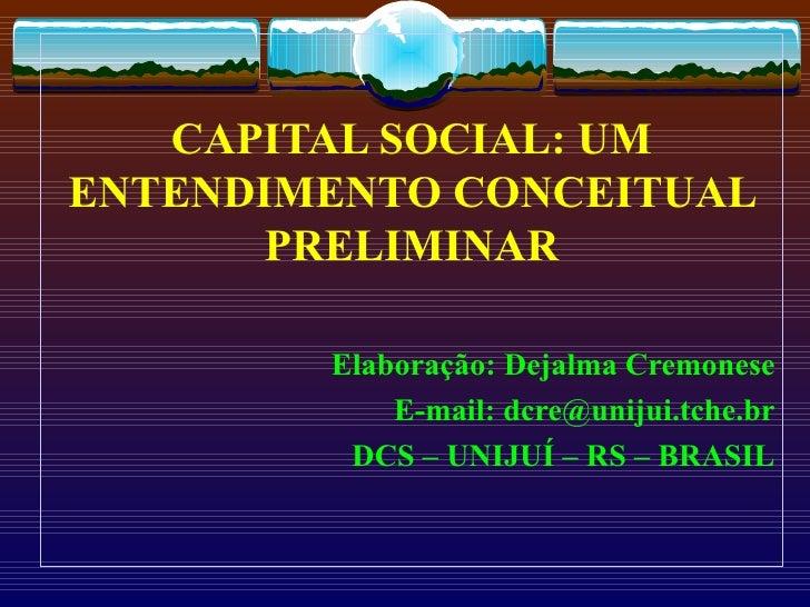 Capital social resumo