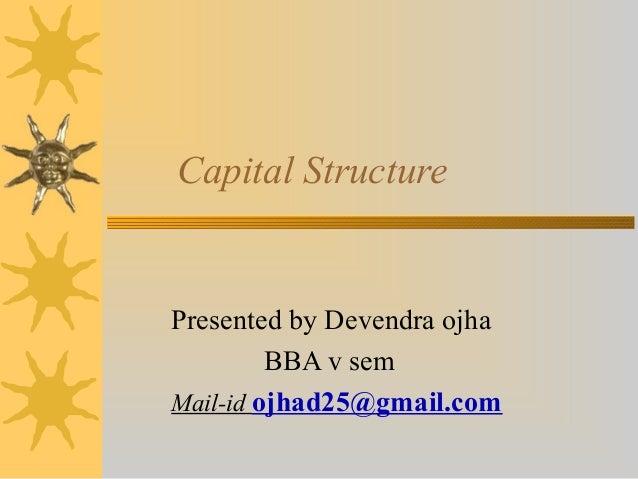 Capital structur 18sep2012