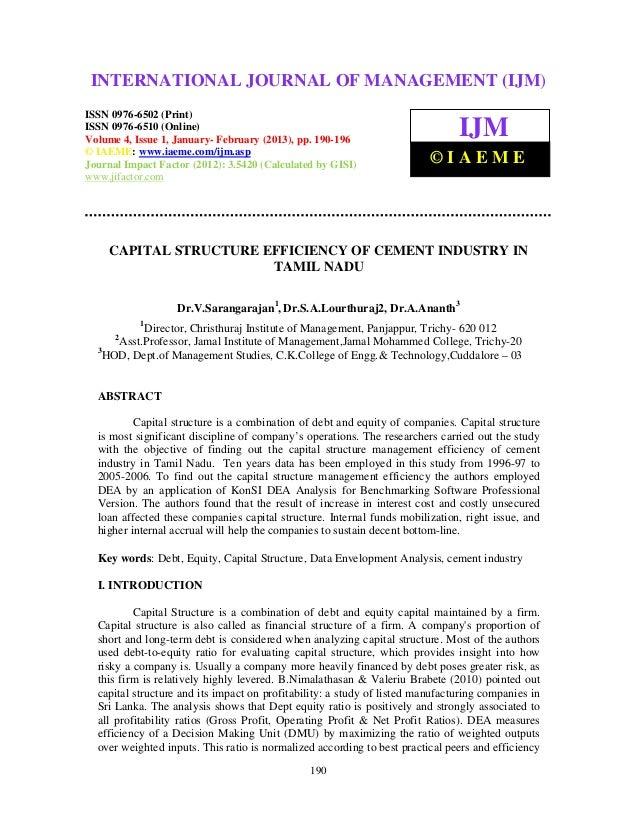 INTERNATIONAL JOURNAL OF (2013) – 6502(Print), ISSN (IJM)  International Journal of Management (IJM), ISSN MANAGEMENT 0976...