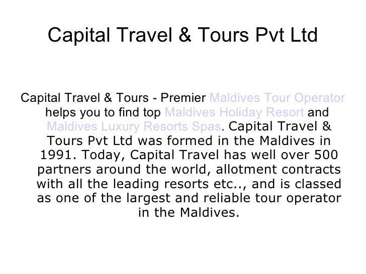 Maldives Tour Operator