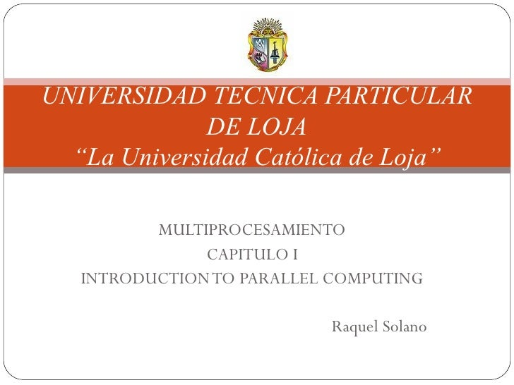 INTRODUCTION TO PARALELL COMPUTING