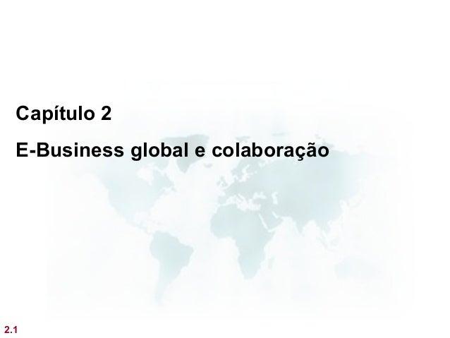Capítulo 2  E-Business global e colaboração2.1