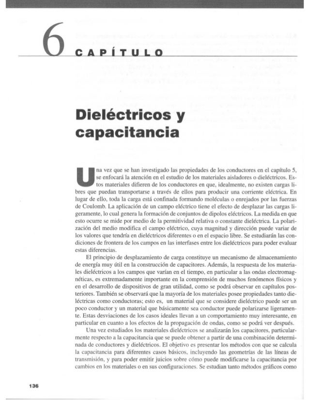 Capitulo 06   dieléctricos y capacitancia