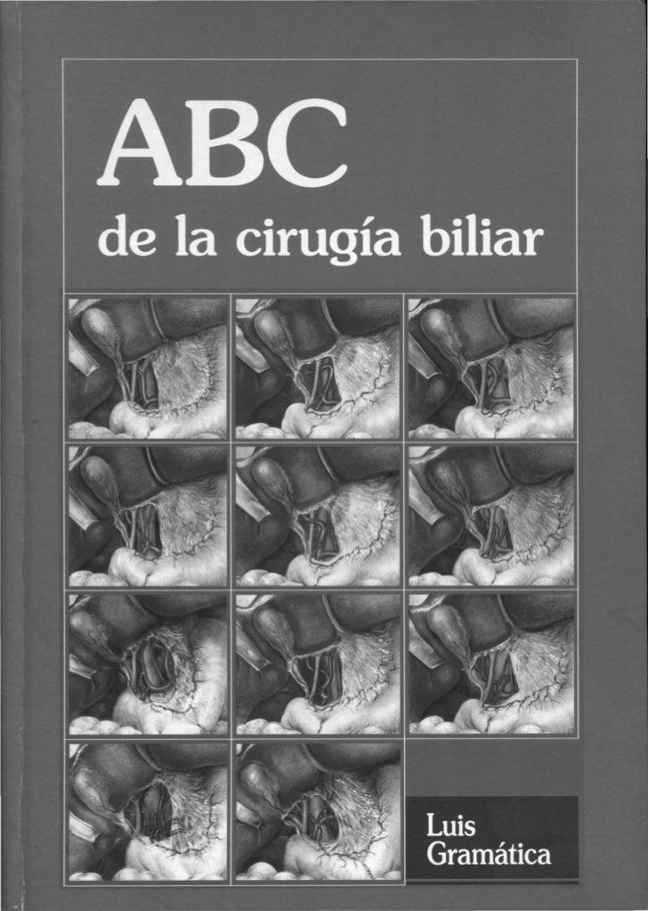 Gramática. Luis    ABC de la cirugía biliar / Luis Gramática; edición literaria a cargo de Claudio Ló-    pez. _la ed. - B...