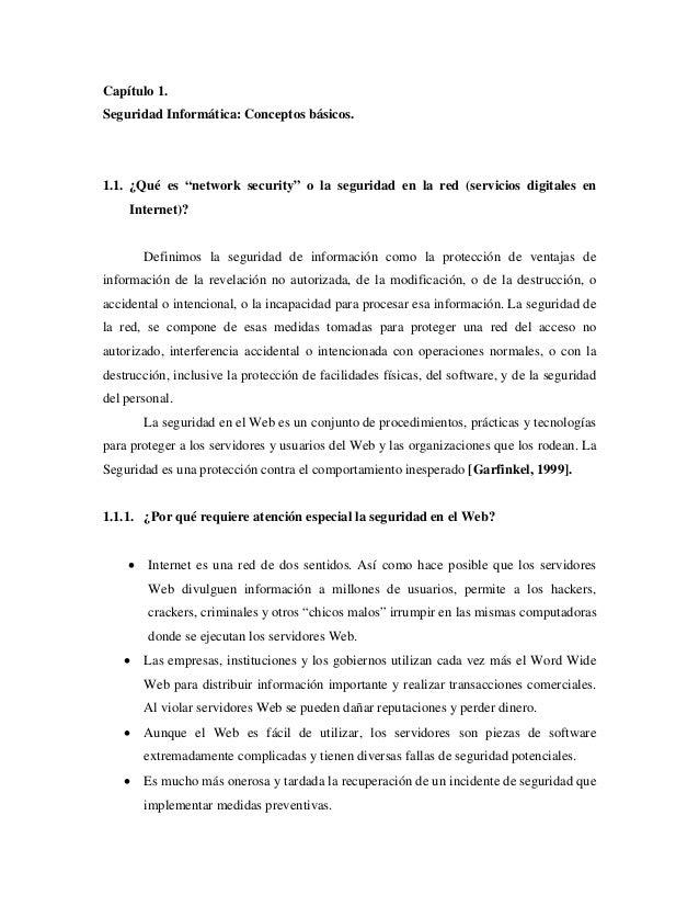 """Capítulo 1. Seguridad Informática: Conceptos básicos. 1.1. ¿Qué es """"network security"""" o la seguridad en la red (servicios ..."""