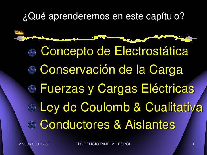 LEY DE COULOMB: Física C-ESPOL