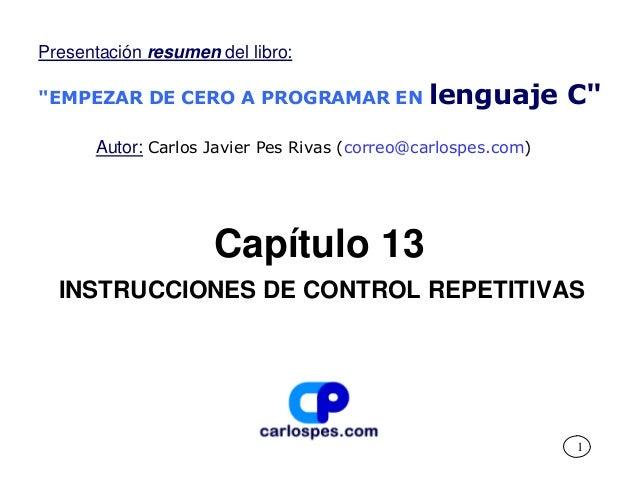 Instrucciones de control repetitivas
