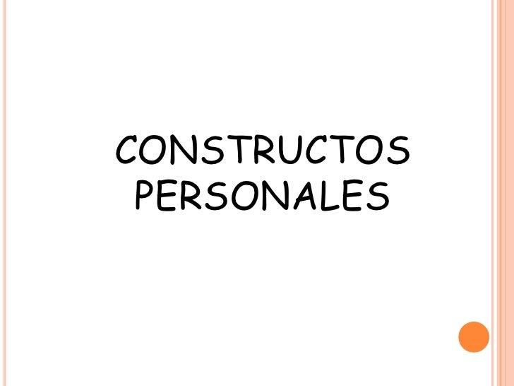 Capitulo 15. constructos personales