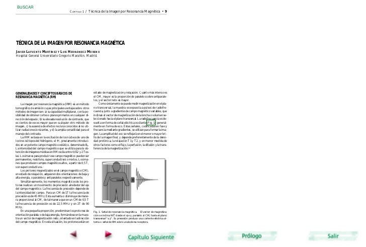 BUSCAR                                                CAPÍTULO 1   / Técnica de la Imagen por Resonancia Magnética • 9TÉCN...