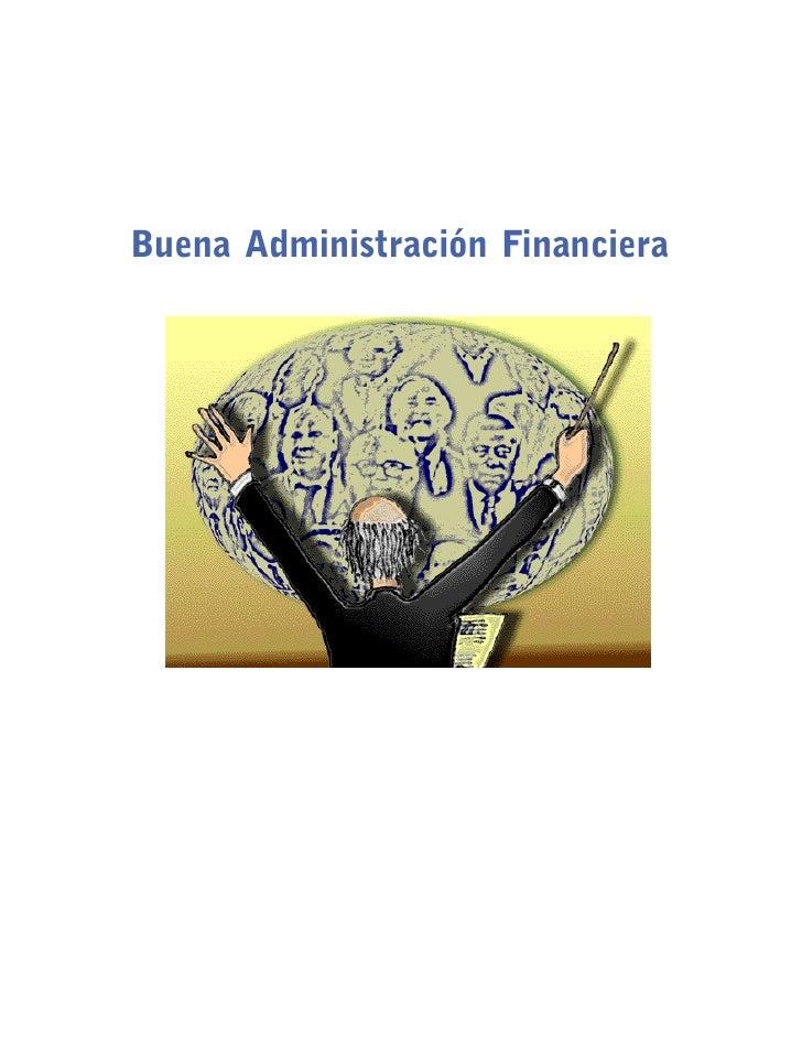 Buena Administración FinancieraPortada